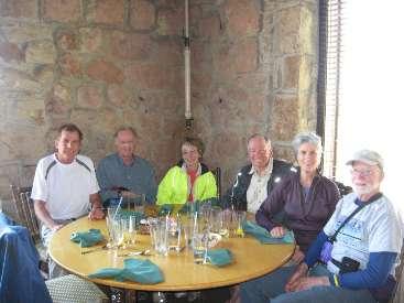 wMark Dave Cindy Paul Patricia Jim Lunch Grand Canyon Lodge by waiter.jpg (263715 bytes)