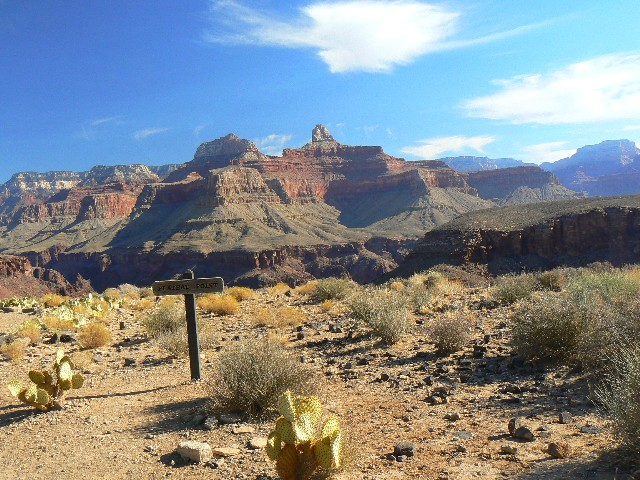 When we of the GCHBA work from Indian Garden, it's an easy walk to Plateau Point, one that can be enjoyed after a full day of volunteering - photo by Rob of the WV