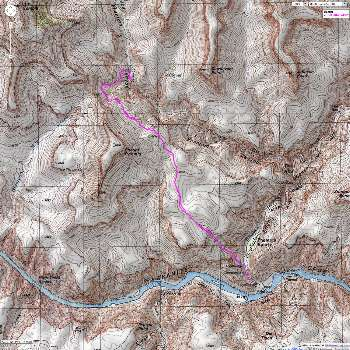 Map - BA to utah Flats and Phantom Cr - possible day hike from BA