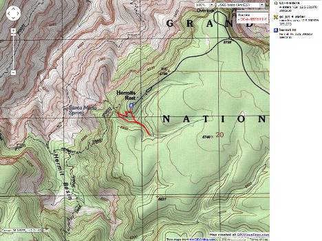 Map - GC; Hermit to Four Sisters NB