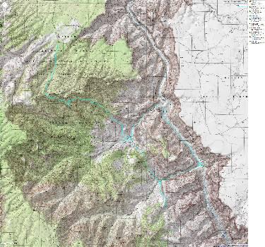 Map - GC: Nankoweap to Kwagunt to Nankoweap