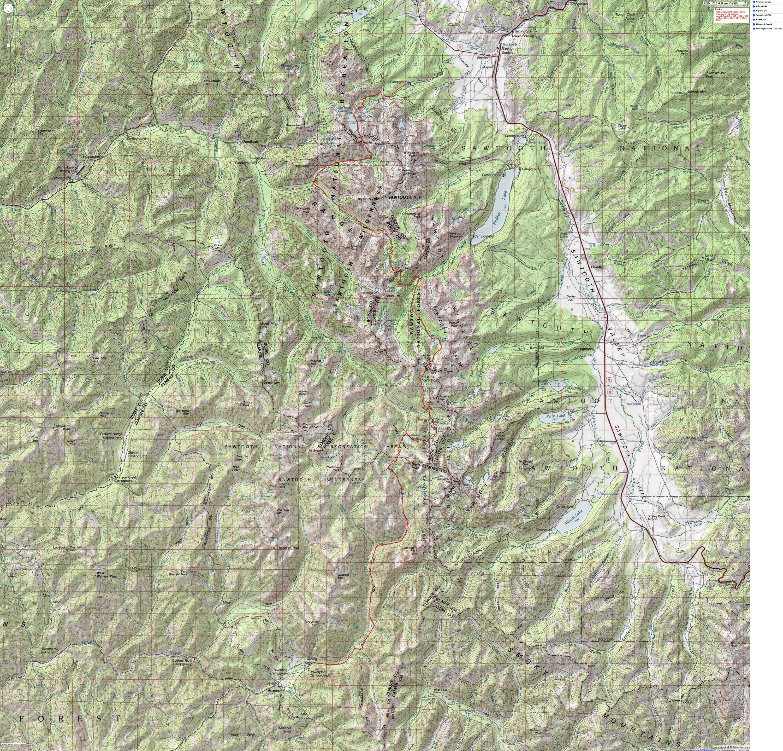 Sawtooth Traverse: Iron Creek to Atlanta: Backng The ... on coconino trail map, river to river trail map, jefferson trail map, idaho atv trail map, moosalamoo trail map, mount washington hiking trail map, red trail map, raven rock trail map, oak forest trail map, water trail map, helena trail map, targhee trail map, mccall trail map, highland trail map, owyhee trail map, wasatch trail map, weiser trail map, payette national forest trail map, phoenix trail map, land between the lakes trail map,