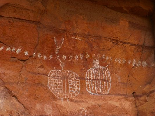 Movie of the Peek-a-Boo Panel, Needles District (no trip report) - 16 mb;  Ancestral Puebloan era figures